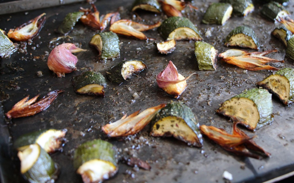 Courgettes rôties à l'ail