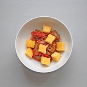 Chakchouka et polenta