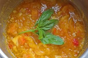 nouilles soba froides au coulis de tomate ananas