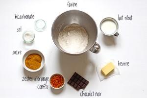 Scones au chocolat et aux zestes d'orange