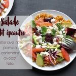 Salade petit épeautre, betteraves rôties, pomelo