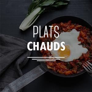 Recettes de plats chauds, plats complets ou accompagnements à base de légumes