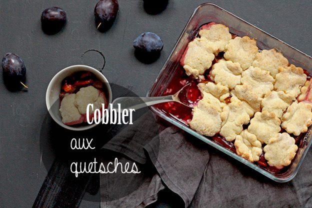 Cobbler aux quetsches (prunes violettes)