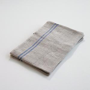 torchon-en-lin-brut-lisere-bleu