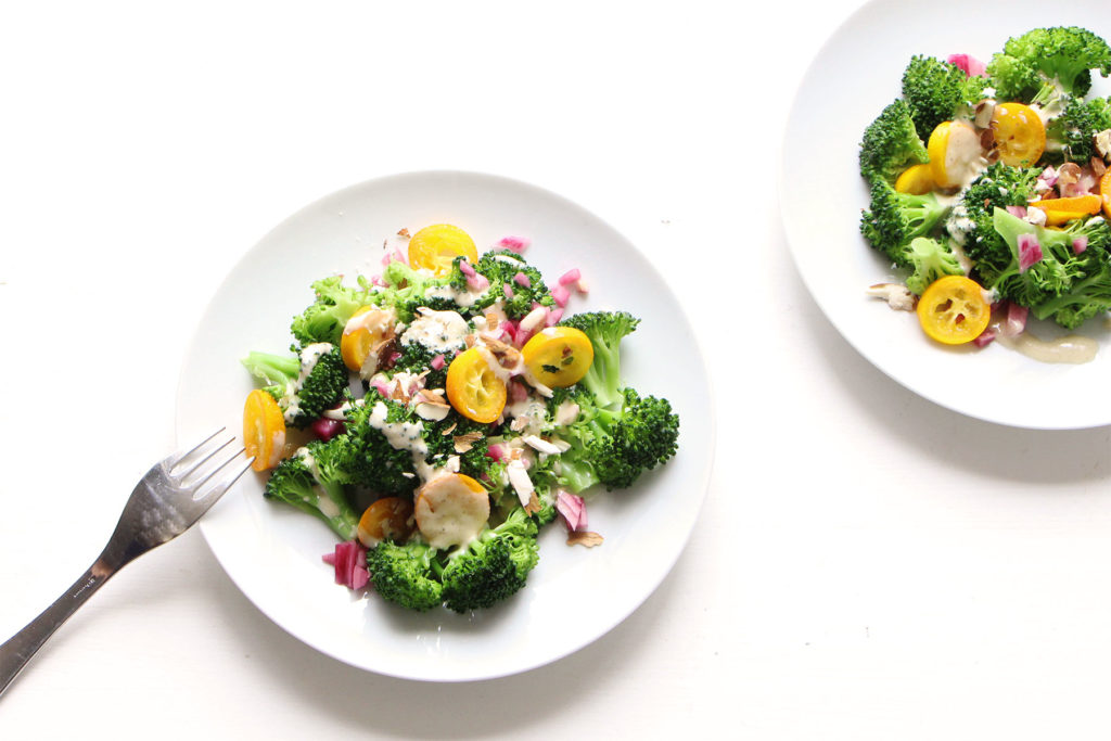 salade vitaminee brocoli kumquat