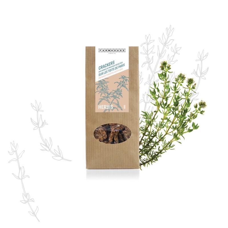 Idées cadeau pour citadins en manque de vert - Crackers aux herbes des toits de Paris