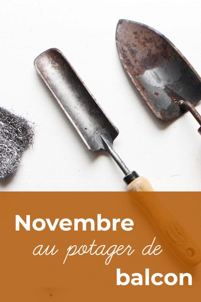 Que faire en novembre au potager de balcon : nettoyer les outils
